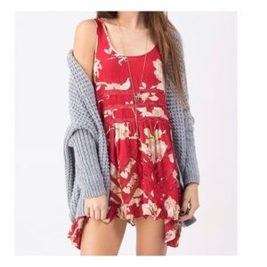 Free People Voile and Lace Floral Dress